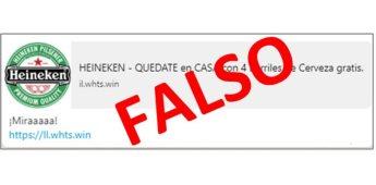 La Fiscalía General del Estado página falsa que promueve barriles de cerveza gratis