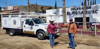 Envían camión de redilas a El Rosario