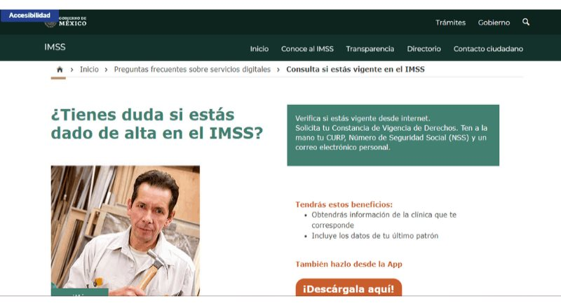 En el IMSS se puede hacer en línea la consulta de Vigencia de Derechos