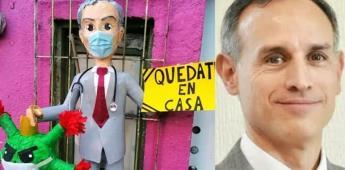 Lanzan piñata de López-Gatell