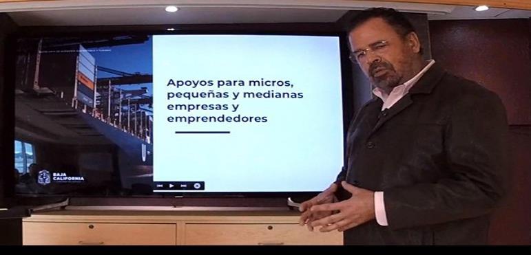Mario Escobedo titular de la SEST anuncia plan de apoyo para empresas