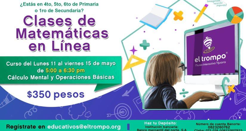 Iniciarán El Trompo Matemáticas en línea próximo lunes