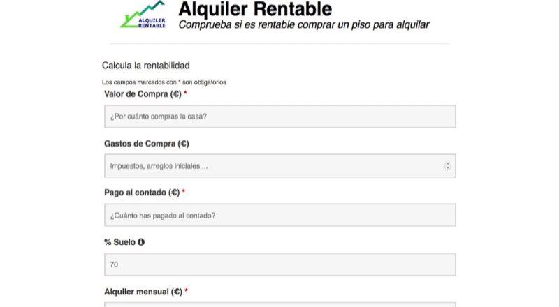 Nace Alquiler Rentable, el simulador para inversores