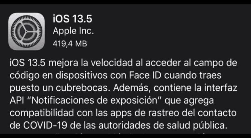 Se habilita para iOS 13.5 Face ID detección de personas con COVID-19