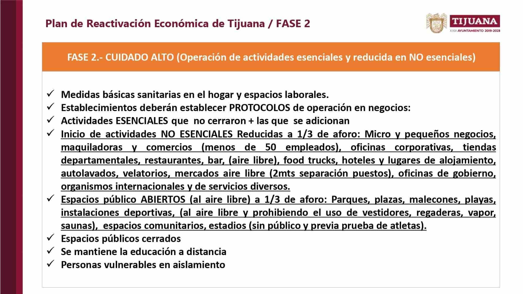 Las 4 Fases del Plan de Reactivación Económica de Tijuana