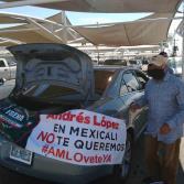 Caravana antiAMLO en Mexicali