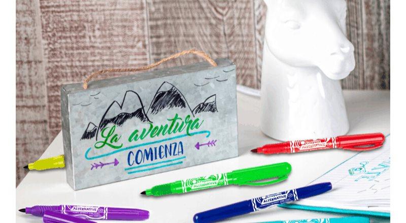 Marcadores permanentes: los nuevos integrantes de la familia Crayola Alternative