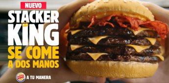Llega Stacker King, la hamburguesa más grande de Burger King