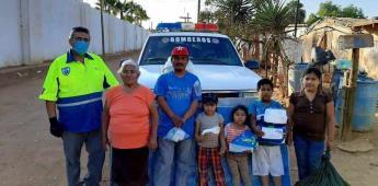 Recabaron apoyo para familia necesitada