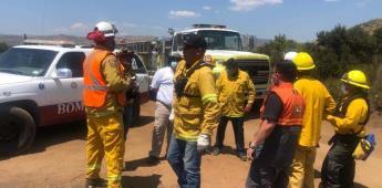 Participó protección civil estatal en combate a incendio forestal en Tecate