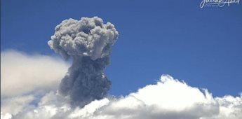 Se registran 274 exhalaciones del Popocatépetl en últimas 24 horas