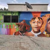 Ayuntamiento realiza mural inclusivo Rostros Indoamericanos en el escuela municipal