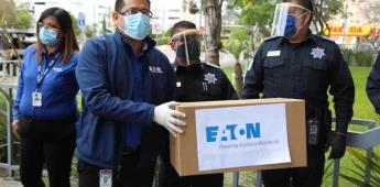 Recibe Ayuntamiento donativo de artículos de protección médica por el sector empresarial