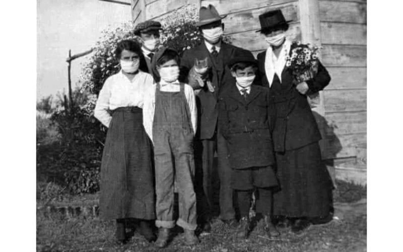 Fotografías tomadas durante la pandemia de gripe española en 1918