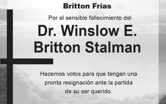 Dr. Winslow E. Britton Stalman