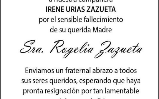 Sra. Rogelia Zazueta
