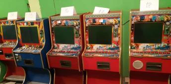 En operativos contra el delito de corrupción de menores, la FGE incauta 32 máquinas tragamonedas