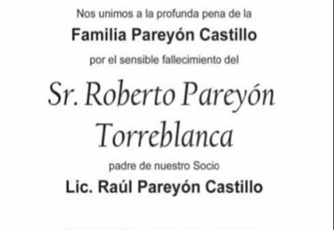 Sr. Roberto Pareyón Torreblanca