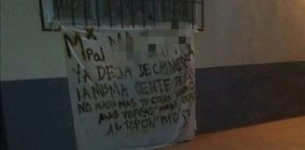 Colocan en San Quintín una manta con amenazas