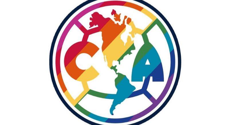 Club América cambia los colores de su escudo por los colores de la bandera arcoíris