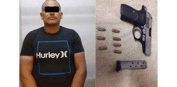 Detiene Fiscalía General del Estado a individuo con arma de fuego