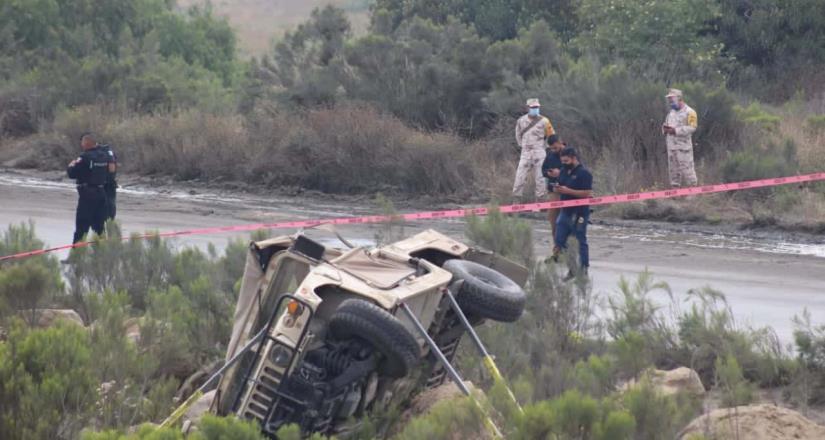 Accidente automovilístico del ejército, cuatro soldados pierden la vida