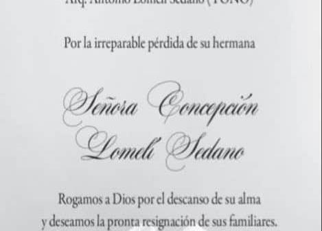 Señora Concepción Lomelí Sedano