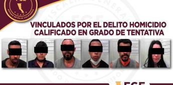 Obtiene la FGE vinculación a proceso para seis personas por tentativa de homicidio