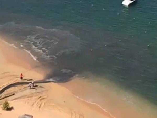 Descargan aguas negras en playa de Acapulco
