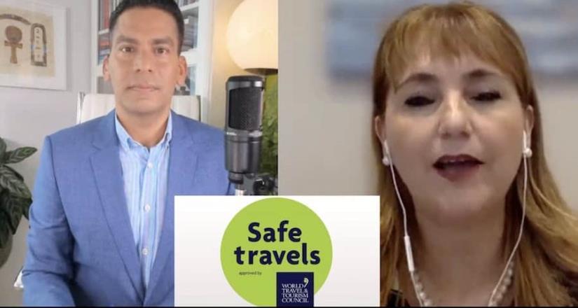 Presidenta del Consejo Mundial de Turismo, en diálogo con Cala