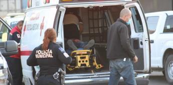 Lesionan a sujeto con arma de fuego es trasladado a hospital