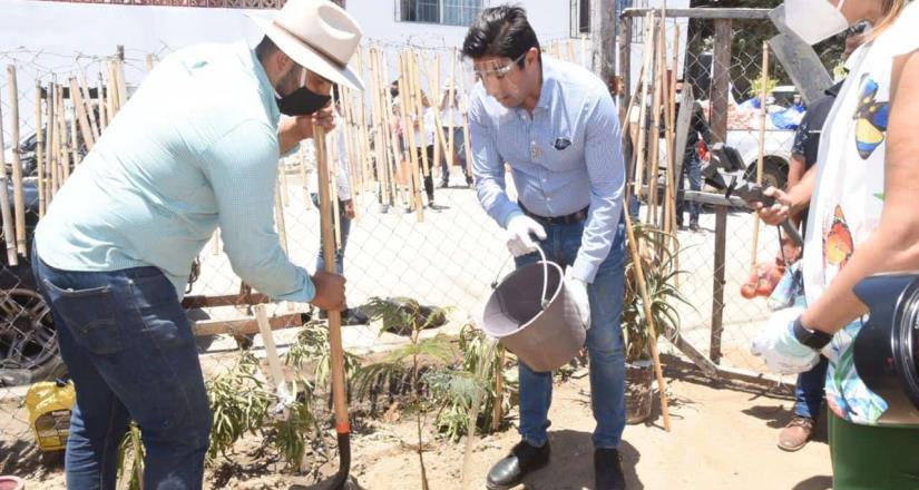 Conmemoró el alcalde Ayala el Día Municipal del Árbol