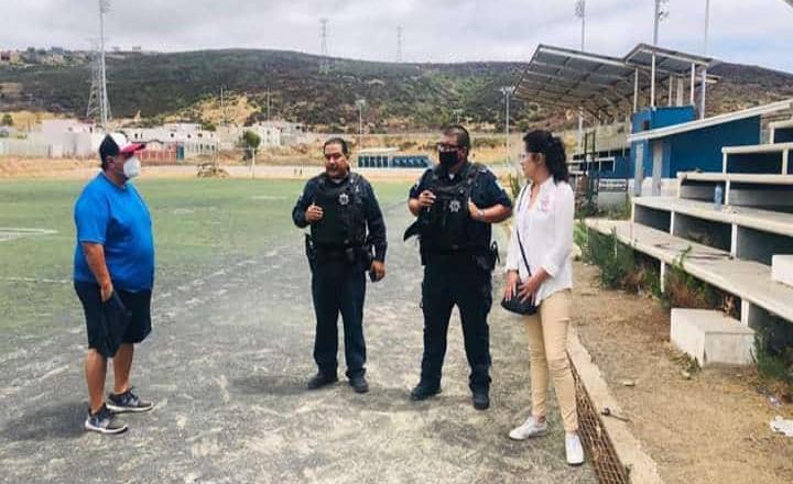 Seguridad Pública desaloja jugadores de Cd. Deportiva