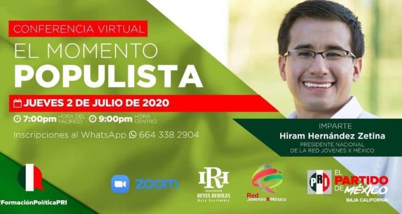 Hiram Hernández impartirá la conferencia El momento populista