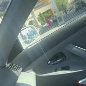 Tráfico en frente a Plaza Galerías