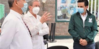 Visitan autoridades del  IMSS y Edomex módulo hospitalario construido por CEMEX en Tlalnepantla