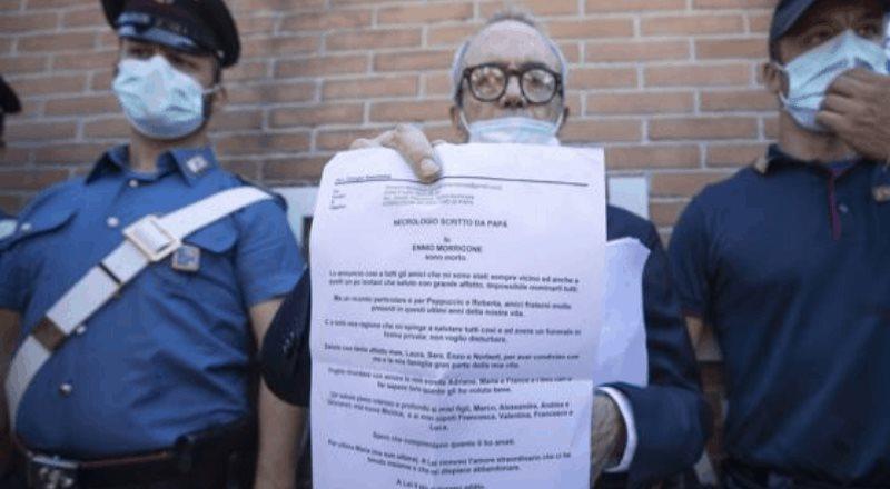 La ultima carta del compositor Ennio Morricone
