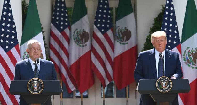 AMLO y Trump dan mensaje en conjunto en la Casa Blanca