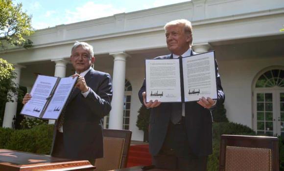 AMLO es una gran persona, es un honor tenerlo con nosotros: Trump (+Fotos)