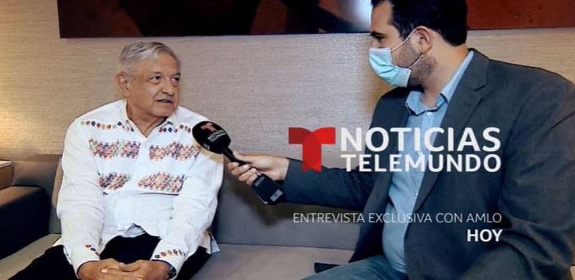 Andrés Manuel López Obrador a noticias Telemundo