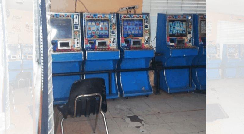 Confiscan 11 máquinas tragamonedas