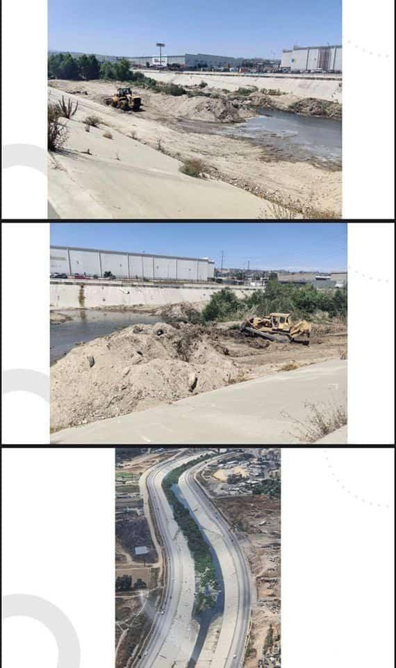 Reporte de limpieza de la canalización del río