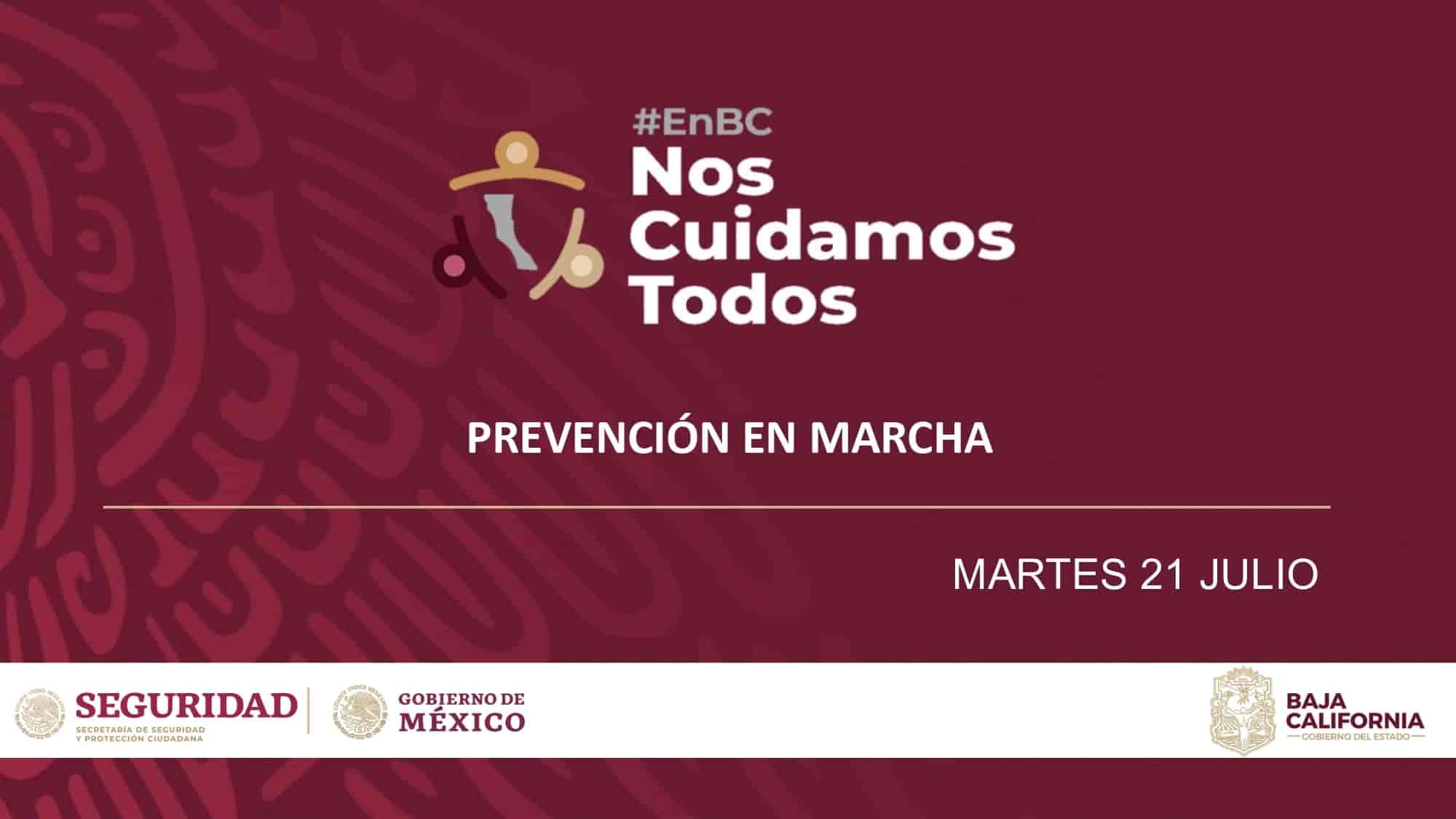 Reporte de prevención en marcha ante la pandemia