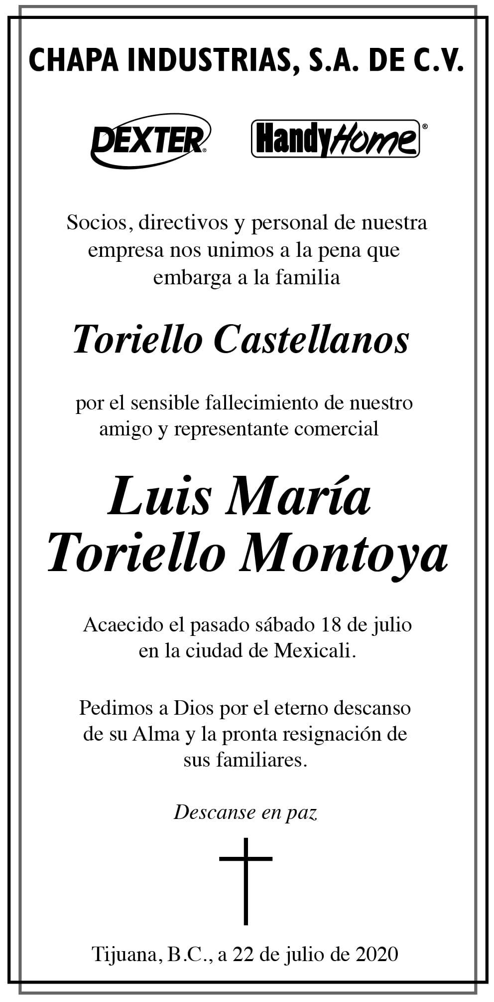 Luis María Toriello Montoya