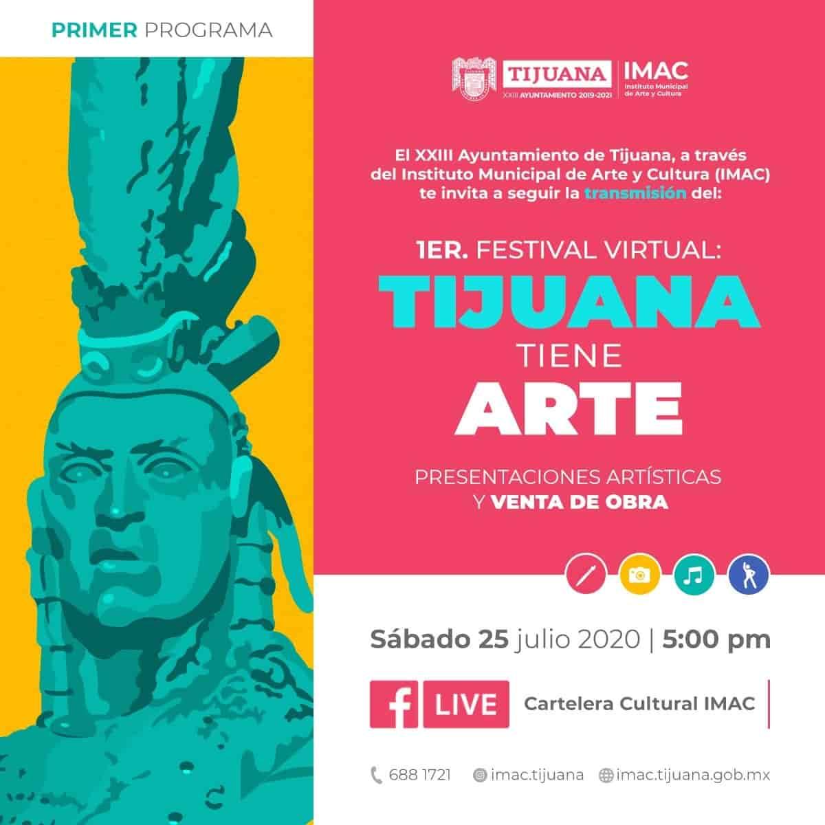 Apoyemos a nuestros artistas durante el primer festival virtual Tijuana Tiene Arte
