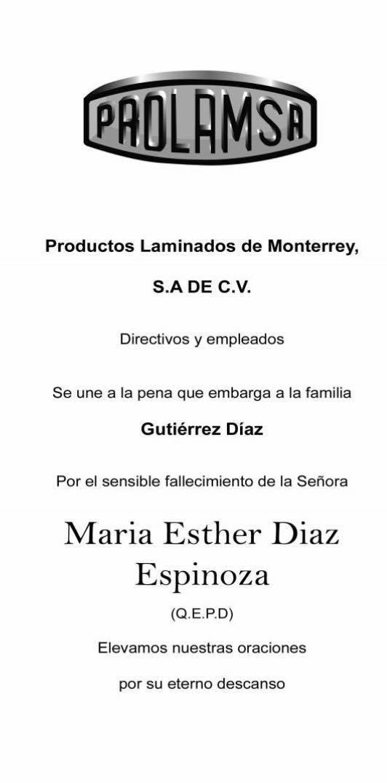 María Esther Díaz Espinoza