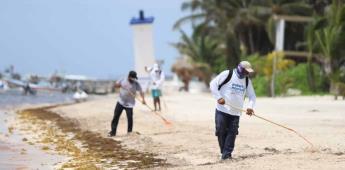 Playas de Puerto Morelos lucen impecables por trabajo en equipo: Laura Fernández