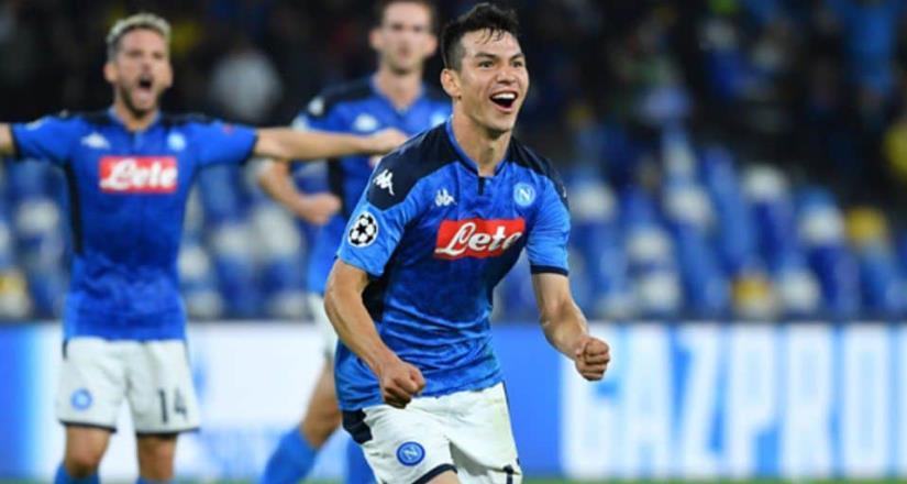 Lozano tuvo minutos en el último juego de temporada del Napoli