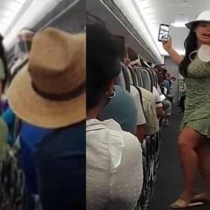 Ya tenemos a #LadyCovid; Pasajera causa disputas en avión