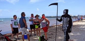 """La """"muerte"""" sigue a visitantes en playa de Quintana Roo por covid-19"""